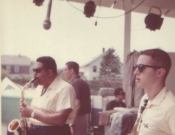 Cannonball Adderley, Marshall Brown, Mike Abene, Andy Marsala, Newport Jazz Festival, 1960